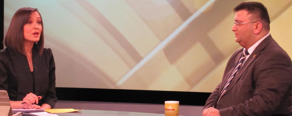 Erkan AYAN,TRTTÜRK TV canlı yayınına konuk oldu