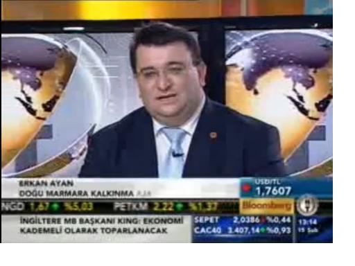 ERKAN AYAN BLOOMBERG HT TV CANLI YAYINDA